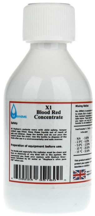 Mayhems Coolant Concentrate Blood Red 250ml