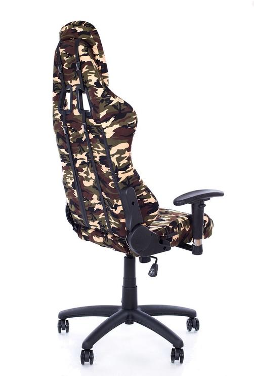 Spēļu krēsls Happygame 9201, melna/zaļa