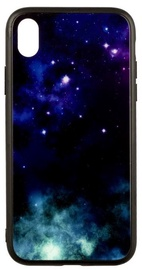 TakeMe Glass Glossy Back Case For Samsung Galaxy J6 Plus J610 Blue Galaxy