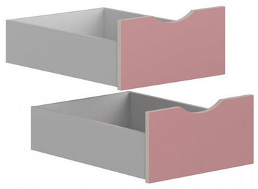 Black Red White Drawers for Stanford Wardrobe Light Grey/Pink