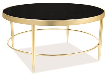 Kafijas galdiņš Signal Meble Mystic B Black/Gold, 820x820x400 mm