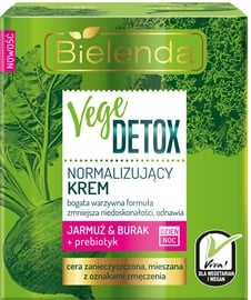 Sejas krēms Bielenda Vege Detox Normalizing Face Cream With Beetroot, Kale And Prebiotic, 50 ml