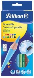 Pelikan Цветной карандаш, стираемый шестиугольный, SOFT, 12 цветов
