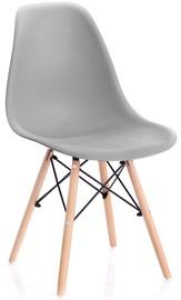 Ēdamistabas krēsls Homede Margot, brūna/pelēka