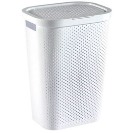 Curver Infinity Recycled Laundry Bin 60l White