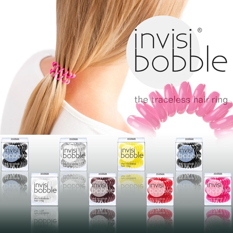 Invisibobble Hair Rings 3pcs Crystal Clear