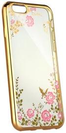 Blun Diamond Back Case For Samsung Galaxy A8 Plus A730 Transparent/Gold