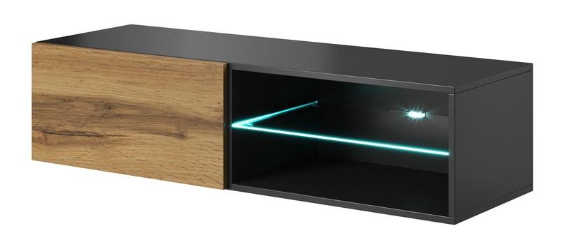 ТВ стол Halmar Livo RTV 120W Anthracite/Wotan Oak, 1200x400x300 мм