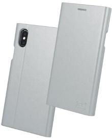 Beeyo Grande Book Case For Samsung Galaxy J7 J730F Silver