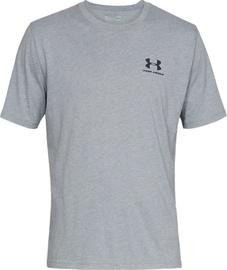 Under Armour Mens Sportstyle Left Chest SS Shirt 1326799-036 Light Grey L