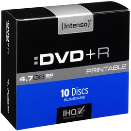 Intenso DVD+R Printable 16x 4.7GB 10pcs. Slim Case 4811652