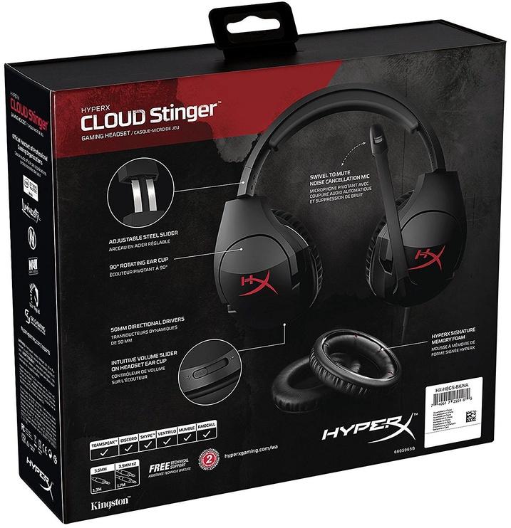 Spēļu austiņas Kingston HyperX Cloud Stinger Black