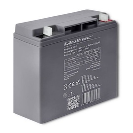 Qoltec AGM Battery 12V 18Ah Max 270A