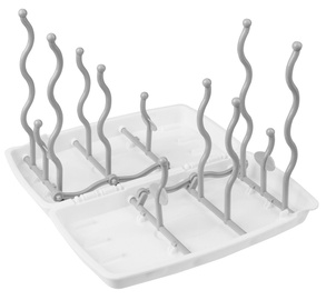 BabyOno Universal Bottle And Teat Drying Rack White