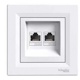 Schneider Electric Asfora 2xRJ45 EPH4400121 White