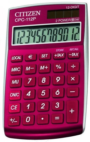 Citizen Calculator CPC 112RDWB Dark Red