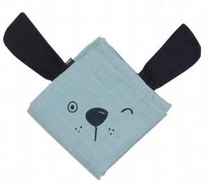 Minene Bamboo Muslin Blanket Blue Dog