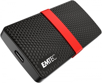 Cietais disks Emtec X200 Portable SSD Power Plus 1TB, SSD, 1 TB, melna/sarkana