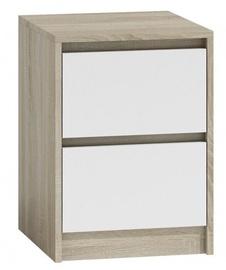 Ночной столик Top E Shop K2 Karo, белый/дубовый, 40x43x55 см