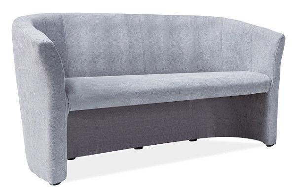 Signal Meble TM-3 Fabric Sofa Light Grey