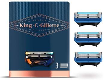 Gillette King C Shave and Edging Razor Refills 3pcs