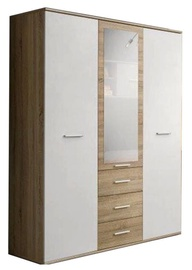 ASM Dino 3D3S Wardrobe White/Sonoma Oak
