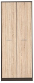 Black Red White Nepo Plus Hallway Wardrobe Wenge/Sonoma Oak