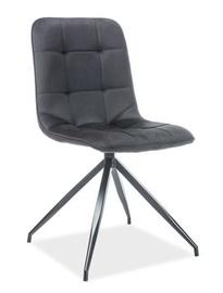 Ēdamistabas krēsls Signal Meble Texo Velvet Black, 1 gab.