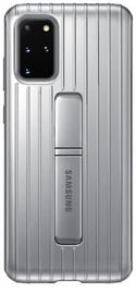 Samsung Protective Standing Back Case For Samsung Galaxy S20 Plus Silver