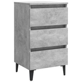 Naktsgaldiņš VLX Bed Cabinet 805913, pelēka, 35x40x69 cm