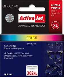 ActiveJet Cartridge AH-302CRX For HP 21ml MultiColor