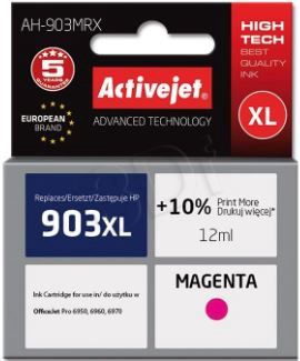 ActiveJet Cartridge AH-903MRX For HP 12ml Magenta