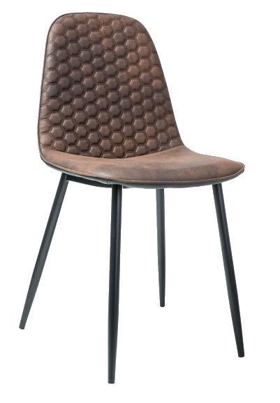 Ēdamistabas krēsls Signal Meble Teo D Black/Brown, 1 gab.