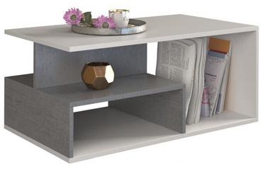 Kafijas galdiņš Top E Shop Prima, balta/pelēka, 900x510x430 mm