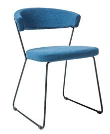 Ēdamistabas krēsls Signal Meble Helix Black/Blue