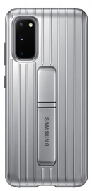 Samsung Protective Standing Back Case For Samsung Galaxy S20 Silver