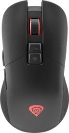 Spēļu pele Genesis Zircon 330 Black, bezvadu, optiskā
