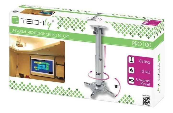 Stiprinājums Techly Professional Projector Ceiling Stand Extension 301580