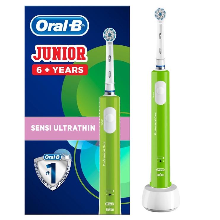 Электрическая зубная щетка Braun JUNIOR PRO SENSI UltraThin Green