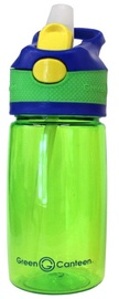 Green Canteen Flip Cap for Kids 0.4l Green