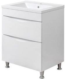 Vannas istabas skapītis Sanservis Smile-60 with Basin Como-60 White, 60x82x45 m