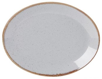 Porland Seasons Oval Dinner Plate 36x27.2cm Grey