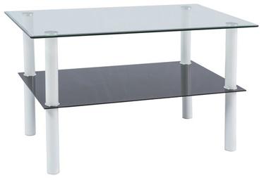 Kafijas galdiņš Signal Meble Doris Transparent/White, 1000x600x600 mm