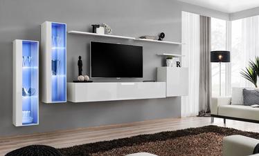 Dzīvojamās istabas mēbeļu komplekts ASM Switch XI White