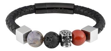 Aproce Zippo Leather Bracelet With Charms 22cm