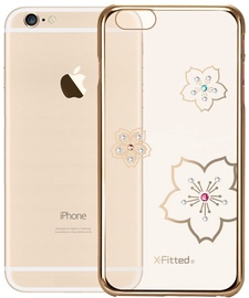 X-Fitted Blossoming Swarovski Crystals Back Case For Apple iPhone 6/6s Gold