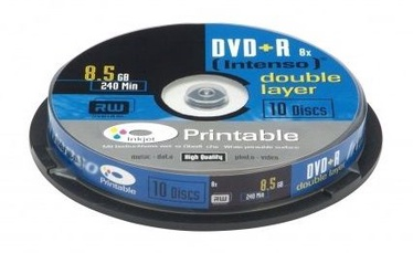 Intenso DVD+R DL 8X 8.5GB Double Layer Printable 10 Pack Spindle