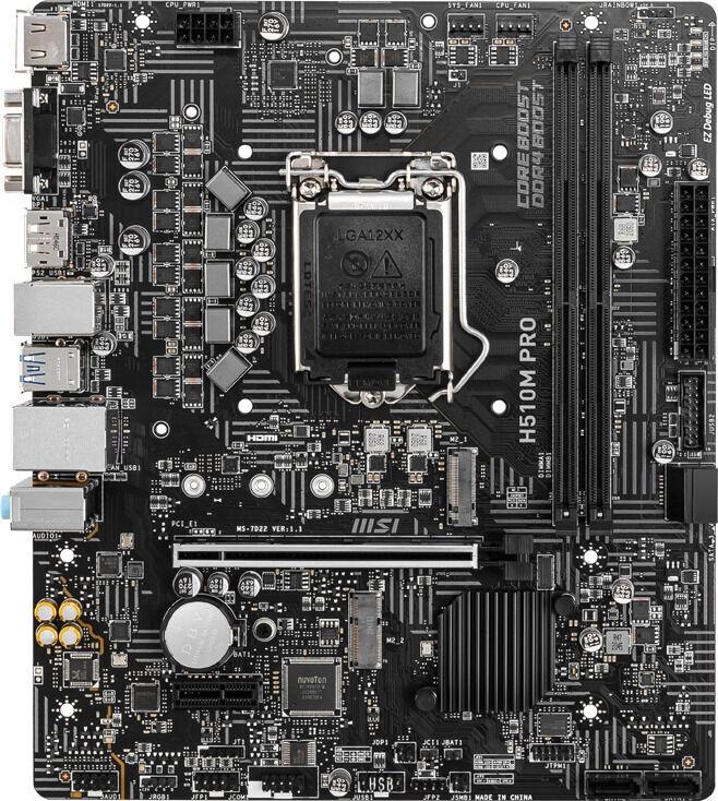 Mātesplate MSI H510M PRO