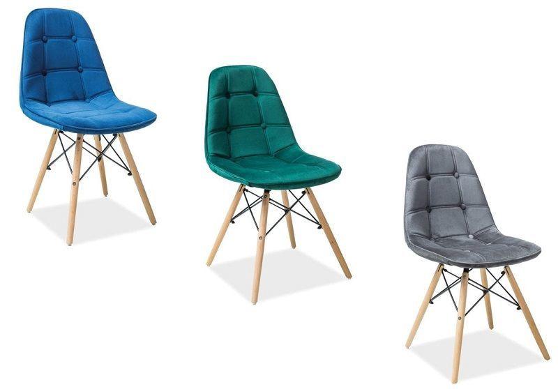 Ēdamistabas krēsls Signal Meble Axel III, zaļa