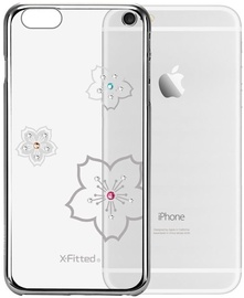 X-Fitted Blossoming Swarovski Crystals Back Case For Apple iPhone 6/6s Silver